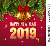 2019 happy new year and  merry... | Shutterstock .eps vector #1228097374