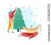 design happy new year... | Shutterstock .eps vector #1228100251