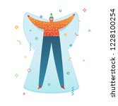 design happy new year... | Shutterstock .eps vector #1228100254