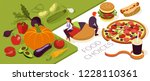 useful diet choices. healthy vs ... | Shutterstock .eps vector #1228110361
