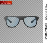 glasses on transparent... | Shutterstock .eps vector #1228111267