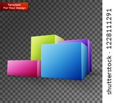 diagram icon on transparent... | Shutterstock .eps vector #1228111291