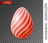 happy easter egg on transparent ... | Shutterstock .eps vector #1228111294