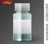 glass medicine bottle on... | Shutterstock .eps vector #1228111441