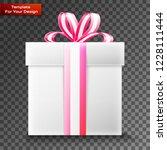 gift box on transparent... | Shutterstock .eps vector #1228111444