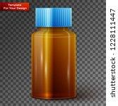glass medicine bottle on... | Shutterstock .eps vector #1228111447