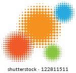 vector half tone circles | Shutterstock .eps vector #122811511