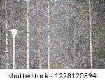 snowfall and streetlamp. winter ... | Shutterstock . vector #1228120894