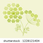 abstract geometric dill or... | Shutterstock .eps vector #1228121404