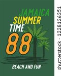 jamaica summertime t shirt... | Shutterstock .eps vector #1228126351