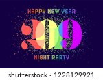 2019. happy new year. greeting... | Shutterstock .eps vector #1228129921