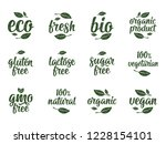 gluten  lactose  sugar  gmo...   Shutterstock .eps vector #1228154101