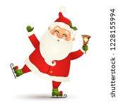 christmas  cute  funny santa... | Shutterstock . vector #1228155994