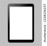 tablet on transparent... | Shutterstock .eps vector #1228156237