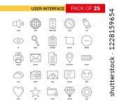 user interface  black line icon ...   Shutterstock .eps vector #1228159654