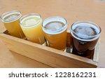 craft beer varietal tasting... | Shutterstock . vector #1228162231