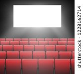 movie cinema screen with red... | Shutterstock .eps vector #1228162714