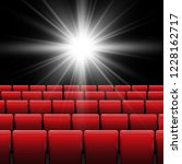 movie cinema screen with red... | Shutterstock .eps vector #1228162717