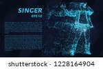 the singer of the blue glowing...   Shutterstock .eps vector #1228164904