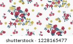seamless floral pattern in... | Shutterstock .eps vector #1228165477