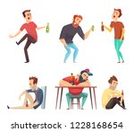 addiction alcoholic. addict... | Shutterstock .eps vector #1228168654