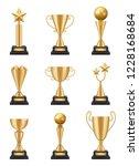 Golden Cup Realistic. 3d Sport...