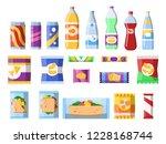 snacks and drinks.... | Shutterstock .eps vector #1228168744