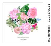 card for newlyweds  floral...   Shutterstock .eps vector #1228170211
