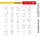 universal  black line icon   25 ... | Shutterstock .eps vector #1228171141