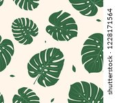 seamless pattern with monstera... | Shutterstock .eps vector #1228171564