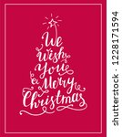 we wish you a merry christmas... | Shutterstock .eps vector #1228171594