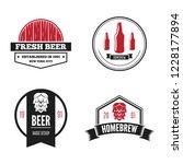 set of vintage logo  badge ... | Shutterstock .eps vector #1228177894
