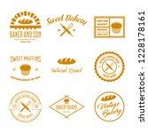 set of bakery and bread logos ... | Shutterstock .eps vector #1228178161