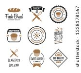 set of bakery and bread logos ... | Shutterstock .eps vector #1228178167