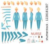 nurse animation character.... | Shutterstock .eps vector #1228181287