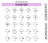 cloud seo line icon set   25... | Shutterstock .eps vector #1228181947