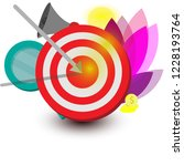 aiming  arrow in aim  business... | Shutterstock .eps vector #1228193764