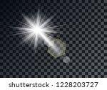 transparent light elements on... | Shutterstock .eps vector #1228203727