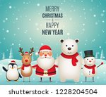 merry christmas new year... | Shutterstock .eps vector #1228204504