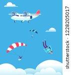Skydiving Concept. Parachutist...