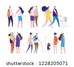 family characters. young age... | Shutterstock .eps vector #1228205071