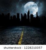 abandon city ruins apocalypse... | Shutterstock . vector #1228210357