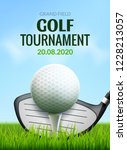 golf tournament poster template ... | Shutterstock .eps vector #1228213057