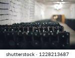 bottles of wine in the wine...   Shutterstock . vector #1228213687