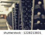 bottles of wine in the wine...   Shutterstock . vector #1228213831