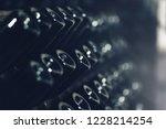 bottles of wine in the wine...   Shutterstock . vector #1228214254