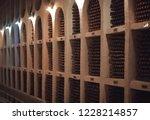 vintage bottles of wine in the...   Shutterstock . vector #1228214857