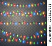 christmas lights isolated on... | Shutterstock .eps vector #1228217131
