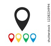 map pin vector icon. | Shutterstock .eps vector #1228224994