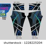 leggings pants for gym | Shutterstock .eps vector #1228225204